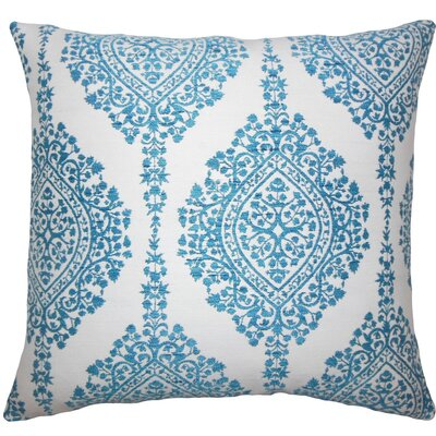 Zanthe Damask Throw Pillow Size: 18 H x 18 W x 5 D, Color: Peacock
