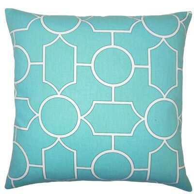 Samoset Geometric Cotton Throw Pillow Size: 18 x 18, Color: Turquoise