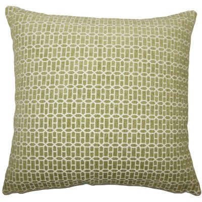 Qiao Geometric Throw Pillow Color: Kiwi, Size: 22 x 22