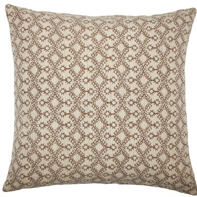 Gzifa Ikat Throw Pillow Color: Brown, Size: 24 x 24