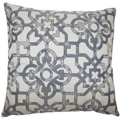 Garrick Geometric Throw Pillow Size: 18 H x 18 W x 5 D, Color: Pewter