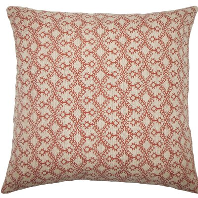 Gzifa Ikat Throw Pillow Size: 22 x 22, Color: Cinnamon