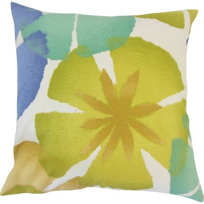 Samiya Floral Cotton Throw Pillow Size: 18