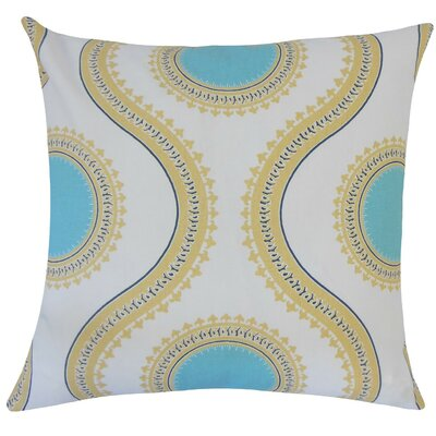 Mantreh Graphic Cotton Throw Pillow Size: 18 H x 18 W x 5 D, Color: Coastal Blue
