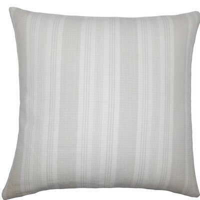 Reiki Striped Cotton Throw Pillow Size: 18 H x 18 W x 5 D, Color: Putty