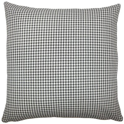 Occhave Houndstooth Cotton Throw Pillow Size: 18 H x 18 W x 5 D, Color: Black White