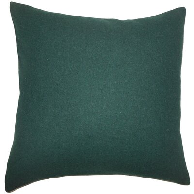 Oisin Solid Wool Throw Pillow Size: 18 H x 18 W x 5 D, Color: Dark Green