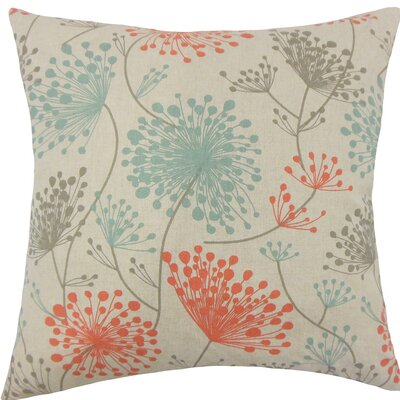 Danessa Floral Cotton Throw Pillow Size: 18 H x 18 W x 5 D, Color: Laken