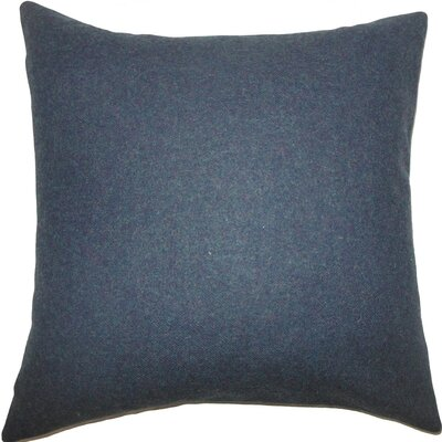 Oisin Solid Wool Throw Pillow Size: 18 H x 18 W x 5 D, Color: Blue
