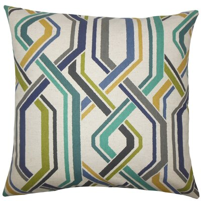 Jax Geometric Throw Pillow Size: 18 H x 18 W x 5 D, Color: Baltic