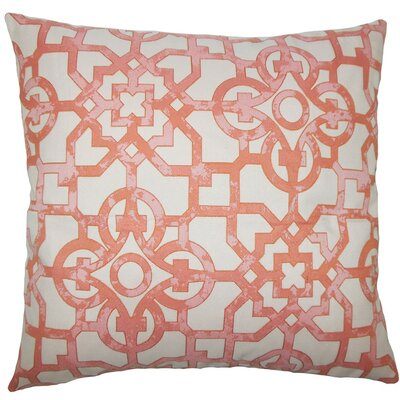 Garrick Geometric Throw Pillow Size: 18 H x 18 W x 5 D, Color: Geranium