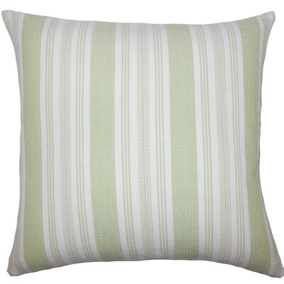 Reiki Striped Cotton Throw Pillow Size: 18 H x 18 W x 5 D, Color: Honeydew