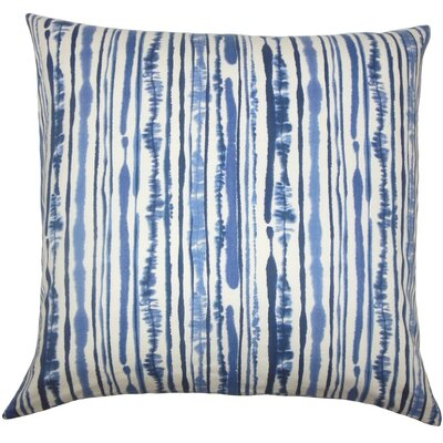 Jumoke Striped Cotton Throw Pillow Color: Navy, Size: 24 x 24