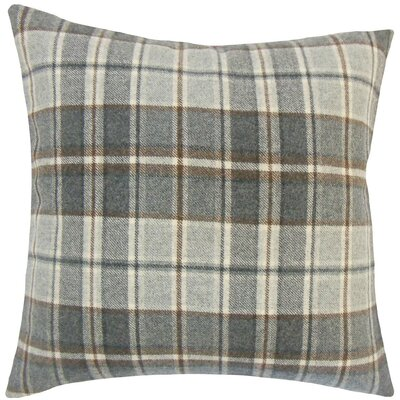 Irfan Plaid Wool Throw Pillow Size: 18 x 18
