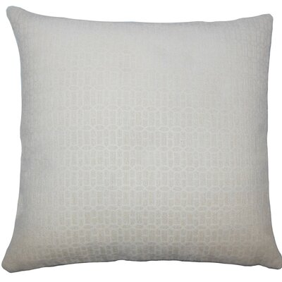 Qiao Geometric Throw Pillow Color: Natural, Size: 24 x 24