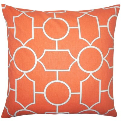 Samoset Geometric Cotton Throw Pillow Size: 18 x 18, Color: Papaya
