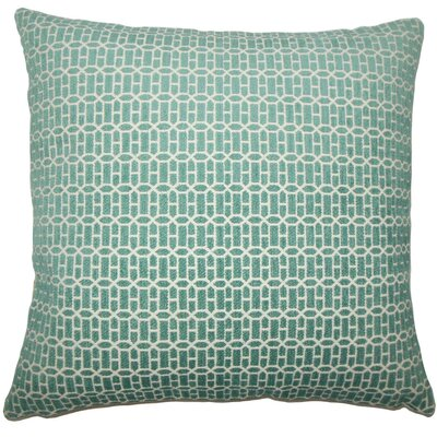 Qiao Geometric Throw Pillow Size: 24 x 24, Color: Turquoise