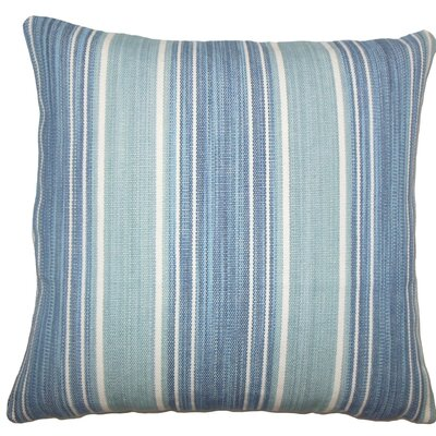 Ferlin Striped Cotton Throw Pillow Size: 18 H x 18 W x 5 D, Color: Turquoise