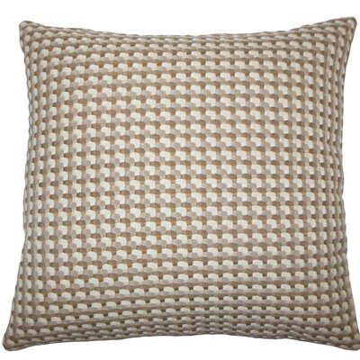 Nadezhda Geometric Throw Pillow Size: 20 H x 20 W x 5 D, Color: Mushroom