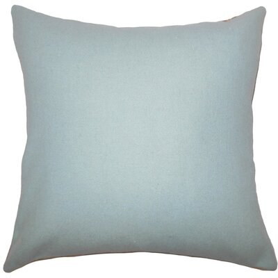 Yandel Solid Wool Throw Pillow Size: 20