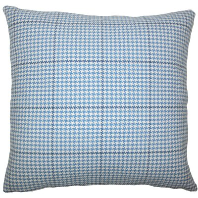 Jariah Houndstooth Cotton Throw Pillow Size: 20 H x 20 W x 5 D, Color: Blue