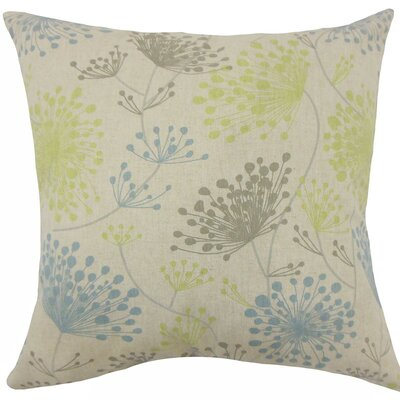 Danessa Floral Cotton Throw Pillow Size: 18 H x 18 W x 5 D, Color: Florence