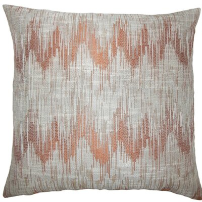 Fleta Ikat Throw Pillow Size: 24 x 24, Color: Melon