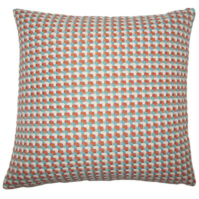 Nadezhda Geometric Throw Pillow Size: 18 H x 18 W x 5 D, Color: Regatta