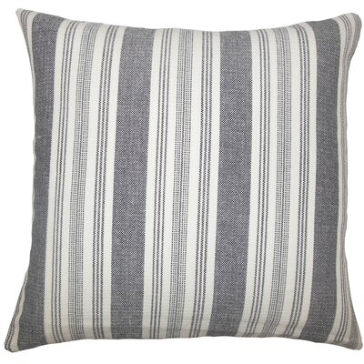 Reiki Striped Cotton Throw Pillow Size: 18 H x 18 W x 5 D, Color: Black White