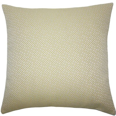 Pertessa Geometric Throw Pillow Color: Yellow, Size: 22 x 22