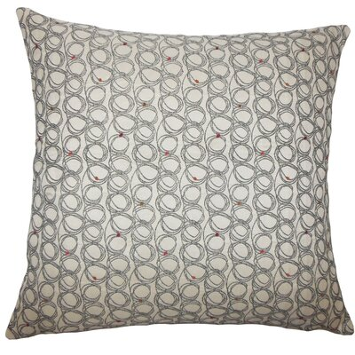 Ladarius Geometric Throw Pillow Size: 18 H x 18 W x 5 D, Color: Licorice