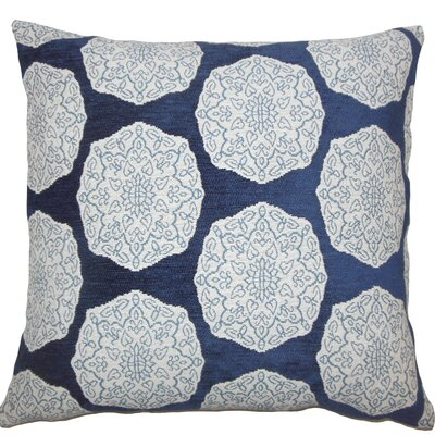 Quitzal Geometric Throw Pillow Size: 20 H x 20 W x 5 D, Color: Indigo