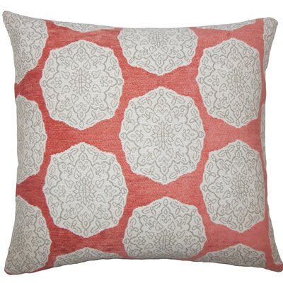 Quitzal Geometric Throw Pillow Size: 18 H x 18 W x 5 D, Color: Coral