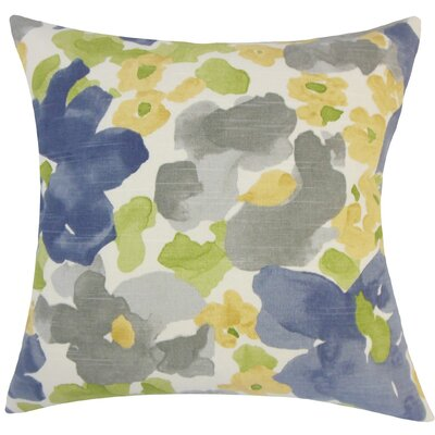 Qing Floral Plush Cotton Throw Pillow Size: 20 H x 20 W x 5 D