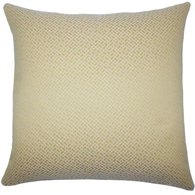 Pertessa Geometric Throw Pillow Color: Buttercup, Size: 22 x 22