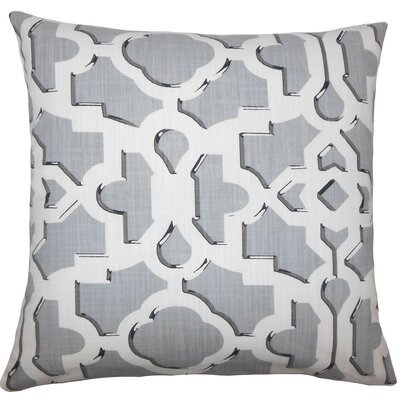 Calixte Geometric Cotton Throw Pillow Size: 18 H x 18 W x 5 D, Color: Greystone