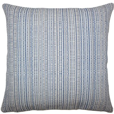 Macall Striped Throw Pillow Size: 18 H x 18 W x 5 D, Color: Lapis