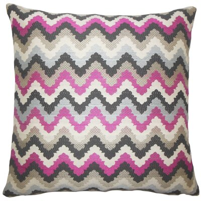 Oya Zigzag Throw Pillow Size: 18 H x 18 W x 5 D, Color: Stone