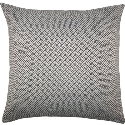 Pertessa Geometric Throw Pillow Size: 24 x 24, Color: Black White