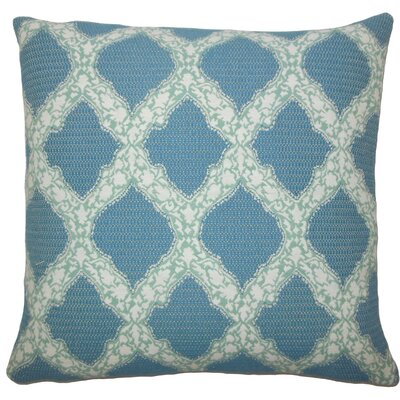 Rajiya Geometric Throw Pillow Size: 18 H x 18 W x 5 D, Color: Turquoise