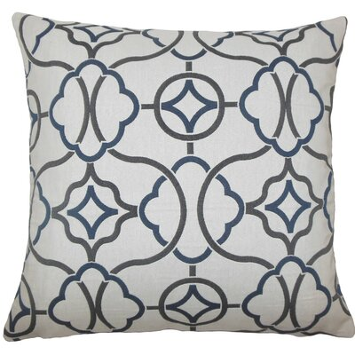 Fearghus Geometric Throw Pillow Size: 18 H x 18 W x 5 D, Color: Indigo