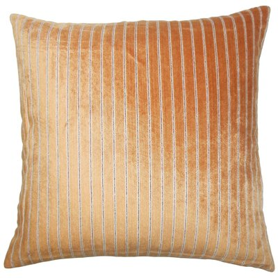 Maaike Striped Throw Pillow Color: Melon, Size: 24 x 24