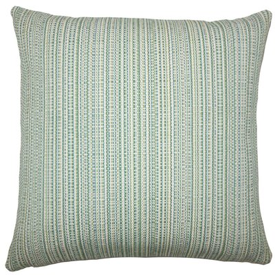 Macall Striped Throw Pillow Size: 18 H x 18 W x 5 D, Color: Aqua Green