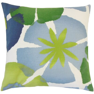 Samiya Floral Cotton Throw Pillow Size: 18 H x 18 W x 5 D