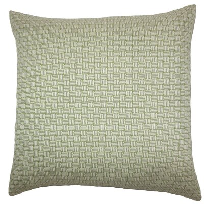 Nahuel Geometric Throw Pillow Color: Green, Size: 24 x 24