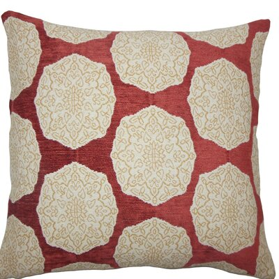 Quitzal Geometric Throw Pillow Size: 18 H x 18 W x 5 D, Color: Cayenne