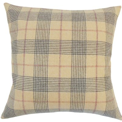 Everly Plaid Wool Throw Pillow Size: 18 H x 18 W x 5 D