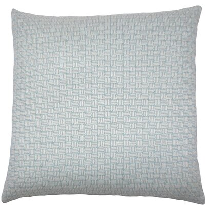 Nahuel Geometric Throw Pillow Color: Aqua, Size: 22 x 22