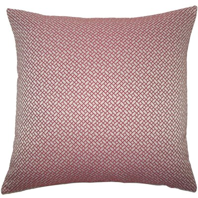 Pertessa Geometric Throw Pillow Color: Berry, Size: 22 x 22