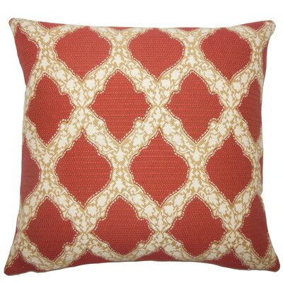 Rajiya Geometric Throw Pillow Size: 20 H x 20 W x 5 D, Color: Cayenne